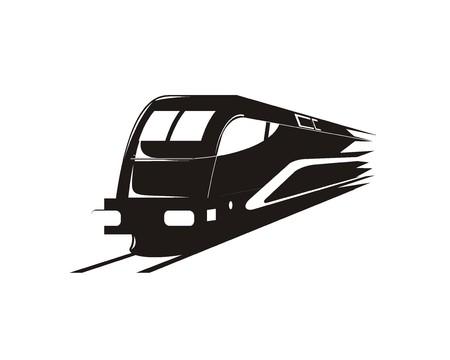 fast train silhouette