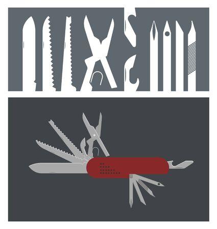 knive: multi purpose knife illustration