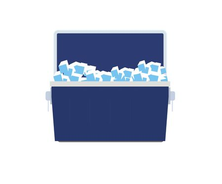 cooler boxes: ice box illustration