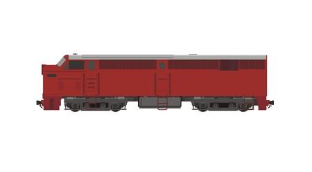 motor coach: locomotive simple illustration Illustration