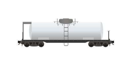 goods station: tanker wagon illustration Illustration