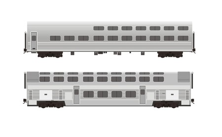 decker: double decker train car illustration