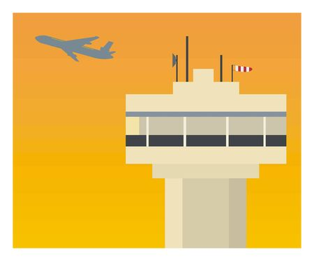 air traffic: Air traffic control in afternoon