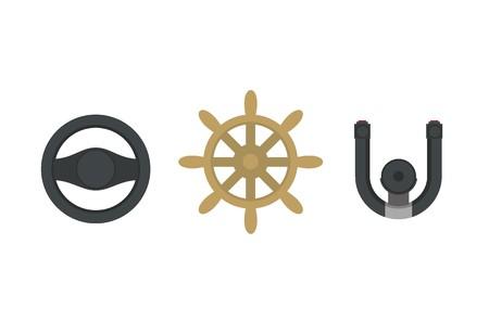 air port: steering wheel simple icon set