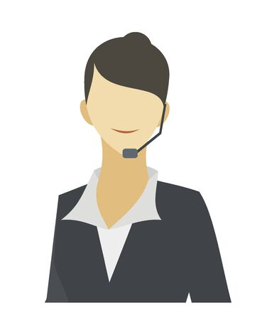 call centre girl: male customer service officer illustration Illustration