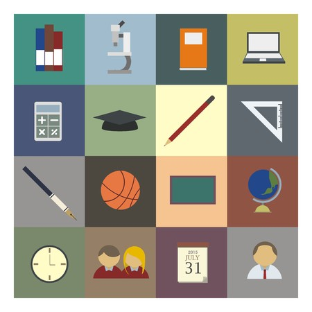school sport: educational icon set in colour Illustration