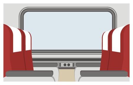 ergonomie: passenger train seat illustration