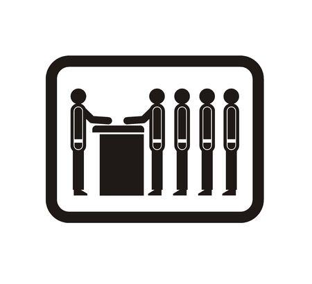 fila de espera: queue simple icon