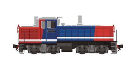 rail yard: shunter locomotive illustration