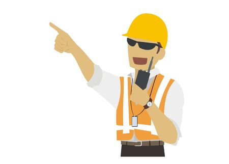 executor: site manager coordinating Illustration