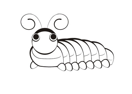 caterpillar simple illustration Illustration