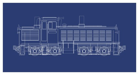technical drawing: locomotive technical drawing