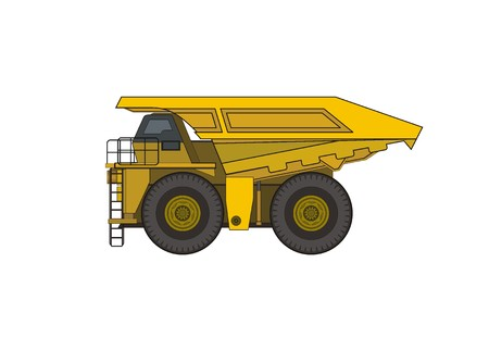 dumper: mine truck simple illustration