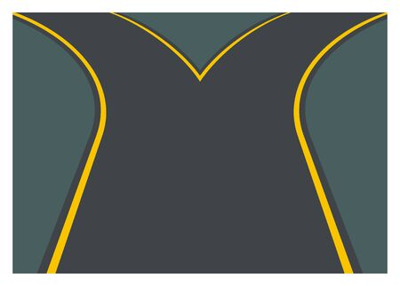choose a path: road branch simple illustration