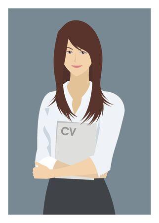 fresh graduate: female job seeker