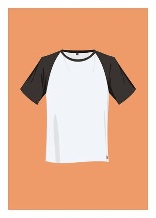 simple: t-shirt simple illustration with short black sleeve Illustration
