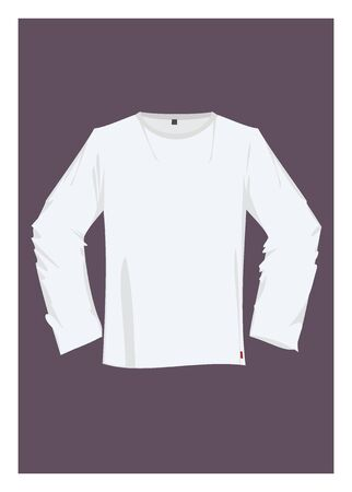 sleeve: T Shirt with long sleeve Illustration