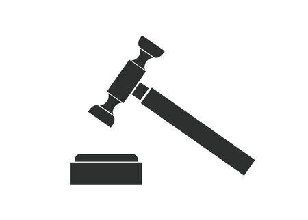 hard court: hammer law simple illustration