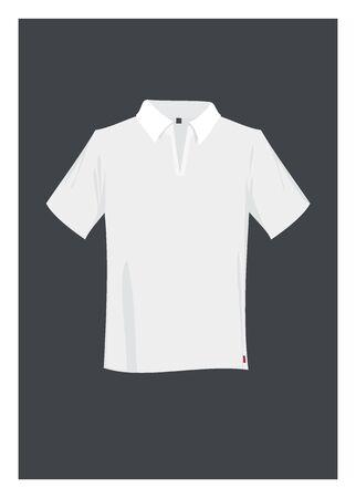 tienda de ropa: camisa de polo simple ilustraci�n