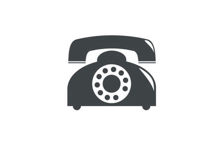 old telephone: old telephone simple icon