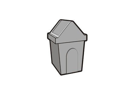recyclable waste: garbage container simple icon