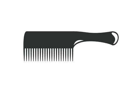 dandruff: hair comb simple illustration