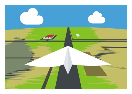 run off: paper airplane and the runway