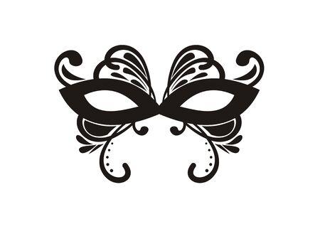 theatre masks: simple mask ornaments Illustration