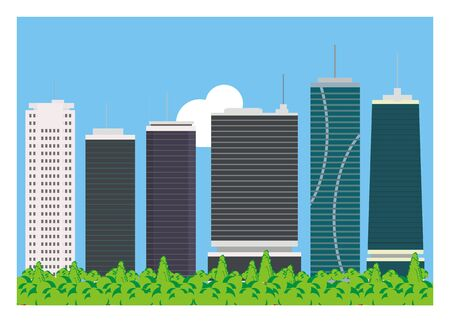 simple background: high building simple background Illustration