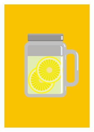 sprue: infused water lemon in the drinking jar