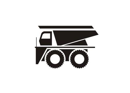 mine site: mine truck simple icon