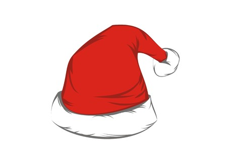 fur hood: santa claus hat Illustration