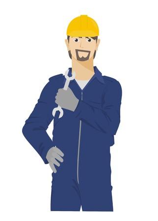 machinist: technician simple illustration