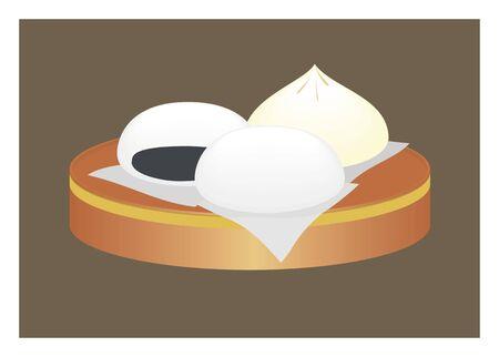 baozi simple illustration