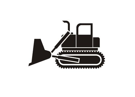 bulldoze: bulldozer simple icon