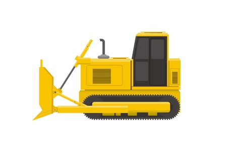 bulldoze: bulldozer simple illustration