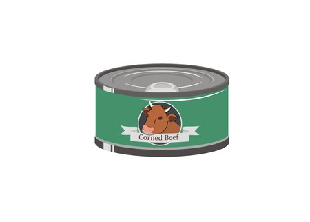 ready cooked: corned beef can Illustration