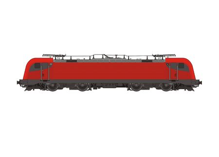 machinist: electric locomotive illustration