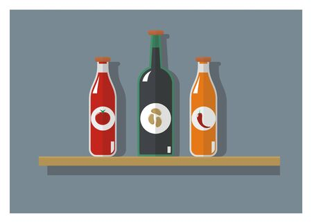 sauce: sauce bottle collection Illustration