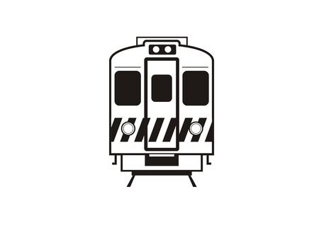 commuter: electric commuter train car simple icon