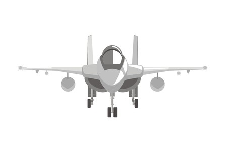 supersonic plane: fighter jet plane simple illustration