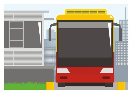 bus stop: bus stop simple illustration Illustration