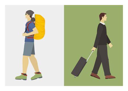 traveler: hiker and traveler
