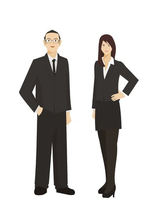 businessman and business woman