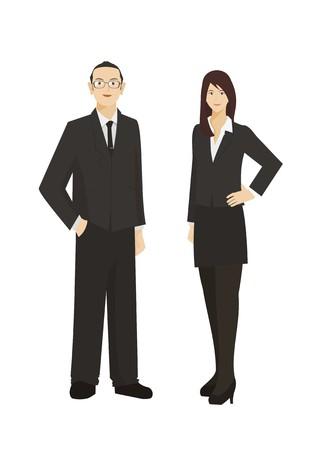 empresario y mujer de negocios