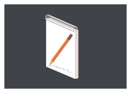 note book: note book simple illustration Illustration