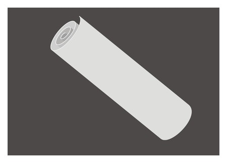 paper art projects: paper roll simple illustration