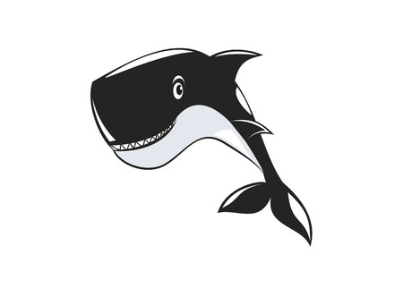 fish animal: whale simple illustration