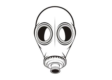 radiation suit: gas mask simple illustration