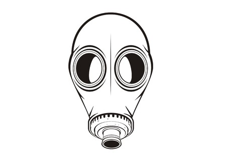 mascara de gas: máscara de gas simple ilustración Vectores